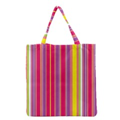 Stripes Colorful Background Grocery Tote Bag