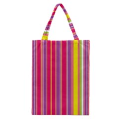 Stripes Colorful Background Classic Tote Bag