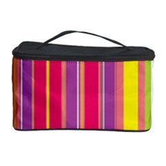 Stripes Colorful Background Cosmetic Storage Case