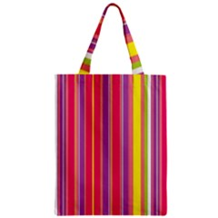 Stripes Colorful Background Zipper Classic Tote Bag