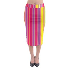 Stripes Colorful Background Midi Pencil Skirt