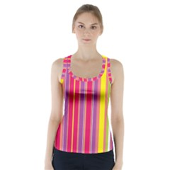Stripes Colorful Background Racer Back Sports Top