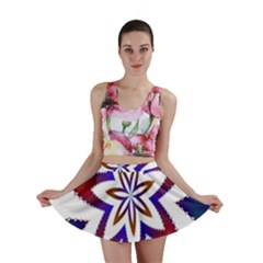 Fractal Flower Mini Skirt