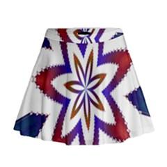 Fractal Flower Mini Flare Skirt