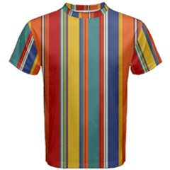 Stripes Background Colorful Men s Cotton Tee