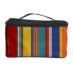 Stripes Background Colorful Cosmetic Storage Case