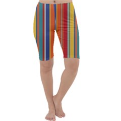 Stripes Background Colorful Cropped Leggings