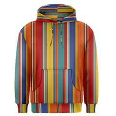 Stripes Background Colorful Men s Pullover Hoodie