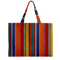 Stripes Background Colorful Zipper Mini Tote Bag