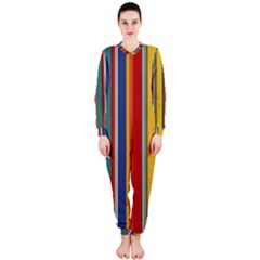 Stripes Background Colorful OnePiece Jumpsuit (Ladies)