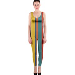 Stripes Background Colorful OnePiece Catsuit