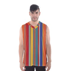 Stripes Background Colorful Men s Basketball Tank Top