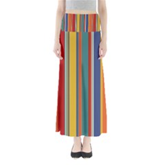Stripes Background Colorful Maxi Skirts