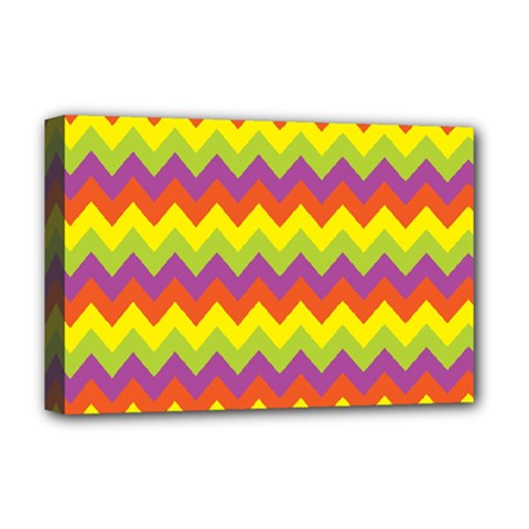 Colorful Zigzag Stripes Background Deluxe Canvas 18  x 12