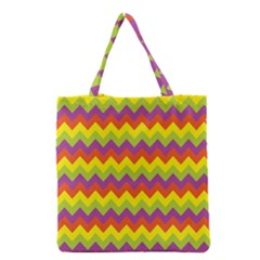 Colorful Zigzag Stripes Background Grocery Tote Bag