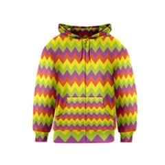 Colorful Zigzag Stripes Background Kids  Zipper Hoodie