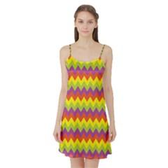 Colorful Zigzag Stripes Background Satin Night Slip