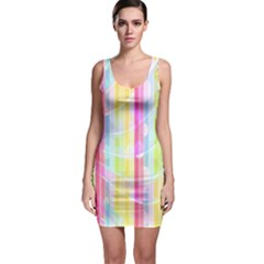 Abstract Stripes Colorful Background Sleeveless Bodycon Dress