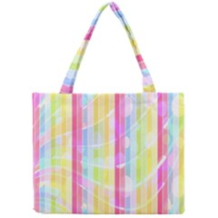 Abstract Stripes Colorful Background Mini Tote Bag
