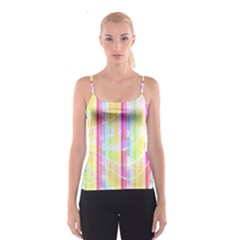 Abstract Stripes Colorful Background Spaghetti Strap Top