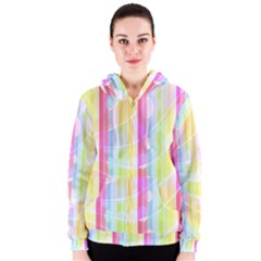 Abstract Stripes Colorful Background Women s Zipper Hoodie