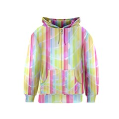 Abstract Stripes Colorful Background Kids  Zipper Hoodie