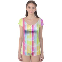 Abstract Stripes Colorful Background Boyleg Leotard