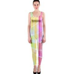 Abstract Stripes Colorful Background OnePiece Catsuit
