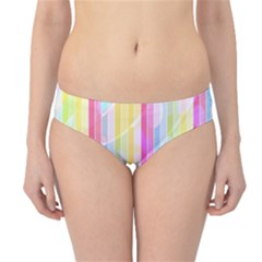 Abstract Stripes Colorful Background Hipster Bikini Bottoms