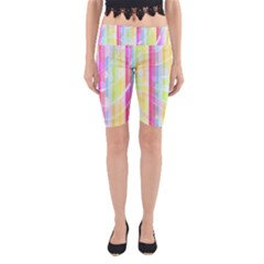 Abstract Stripes Colorful Background Yoga Cropped Leggings