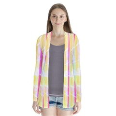 Abstract Stripes Colorful Background Cardigans