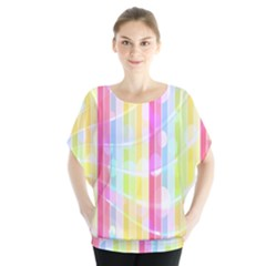 Abstract Stripes Colorful Background Blouse