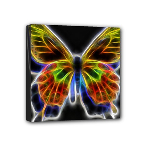Fractal Butterfly Mini Canvas 4  X 4