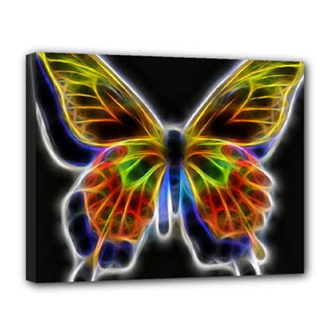 Fractal Butterfly Canvas 14  X 11