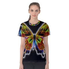 Fractal Butterfly Women s Cotton Tee