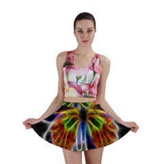 Fractal Butterfly Mini Skirt
