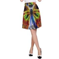 Fractal Butterfly A-Line Skirt