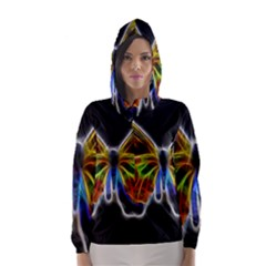 Fractal Butterfly Hooded Wind Breaker (women)