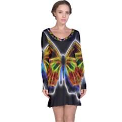 Fractal Butterfly Long Sleeve Nightdress