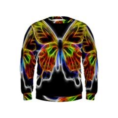 Fractal Butterfly Kids  Sweatshirt