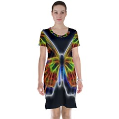 Fractal Butterfly Short Sleeve Nightdress