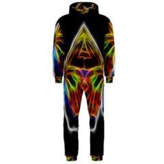Fractal Butterfly Hooded Jumpsuit (Men)