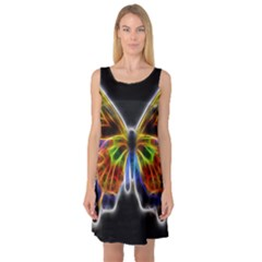Fractal Butterfly Sleeveless Satin Nightdress