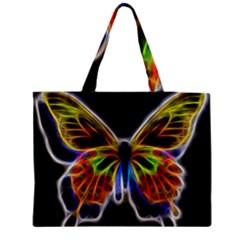 Fractal Butterfly Medium Zipper Tote Bag