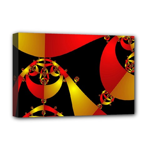 Fractal Ribbons Deluxe Canvas 18  x 12