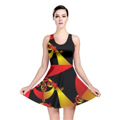 Fractal Ribbons Reversible Skater Dress