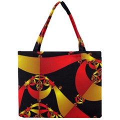 Fractal Ribbons Mini Tote Bag
