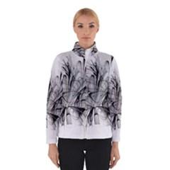 Fractal Black Flower Winterwear