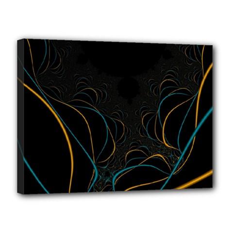 Fractal Lines Canvas 16  x 12