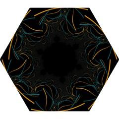 Fractal Lines Mini Folding Umbrellas